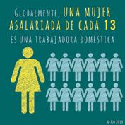 Mujeres asalariadas en el mundo